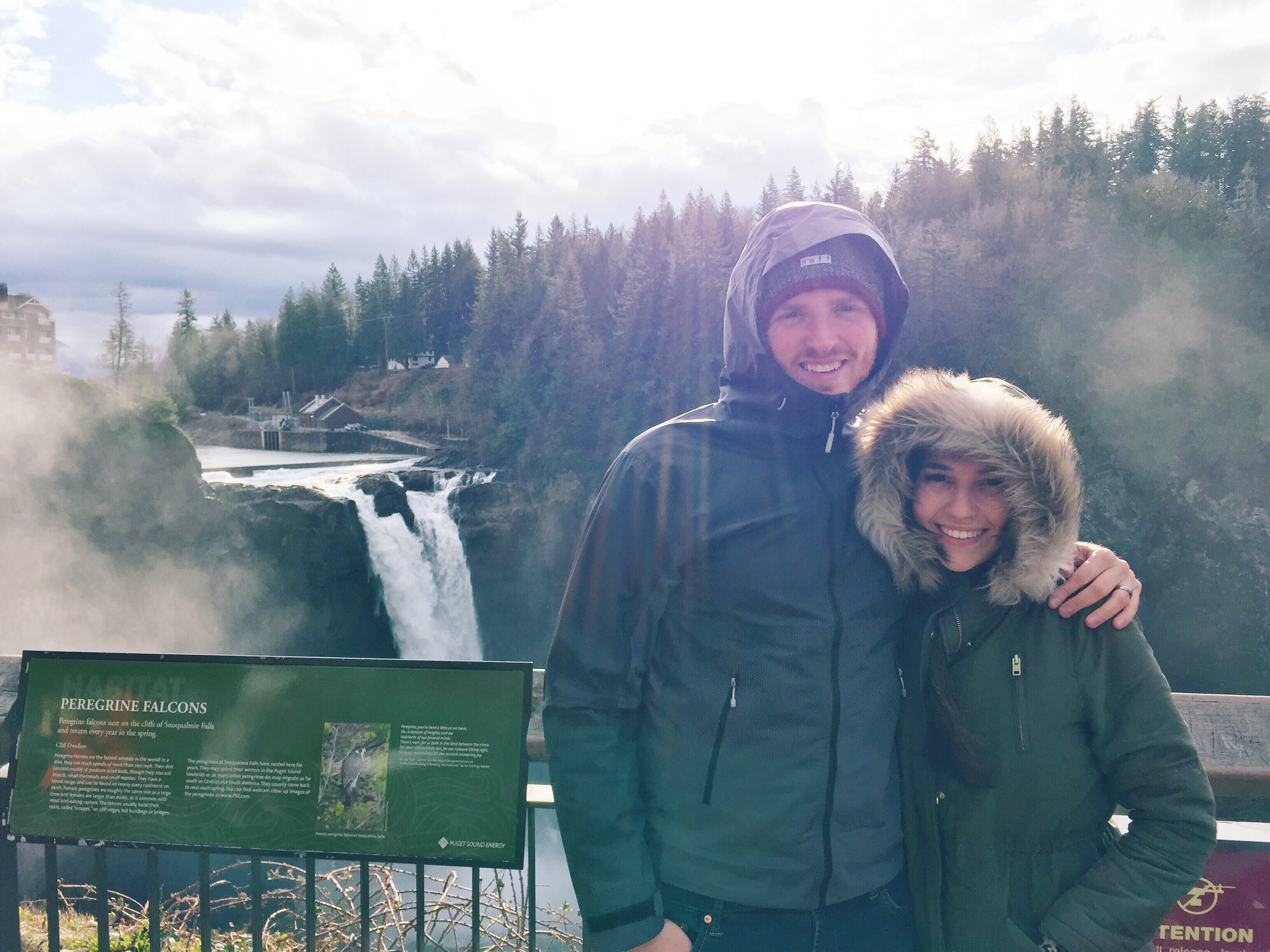 Being Blown Away at Snoqualmie Falls