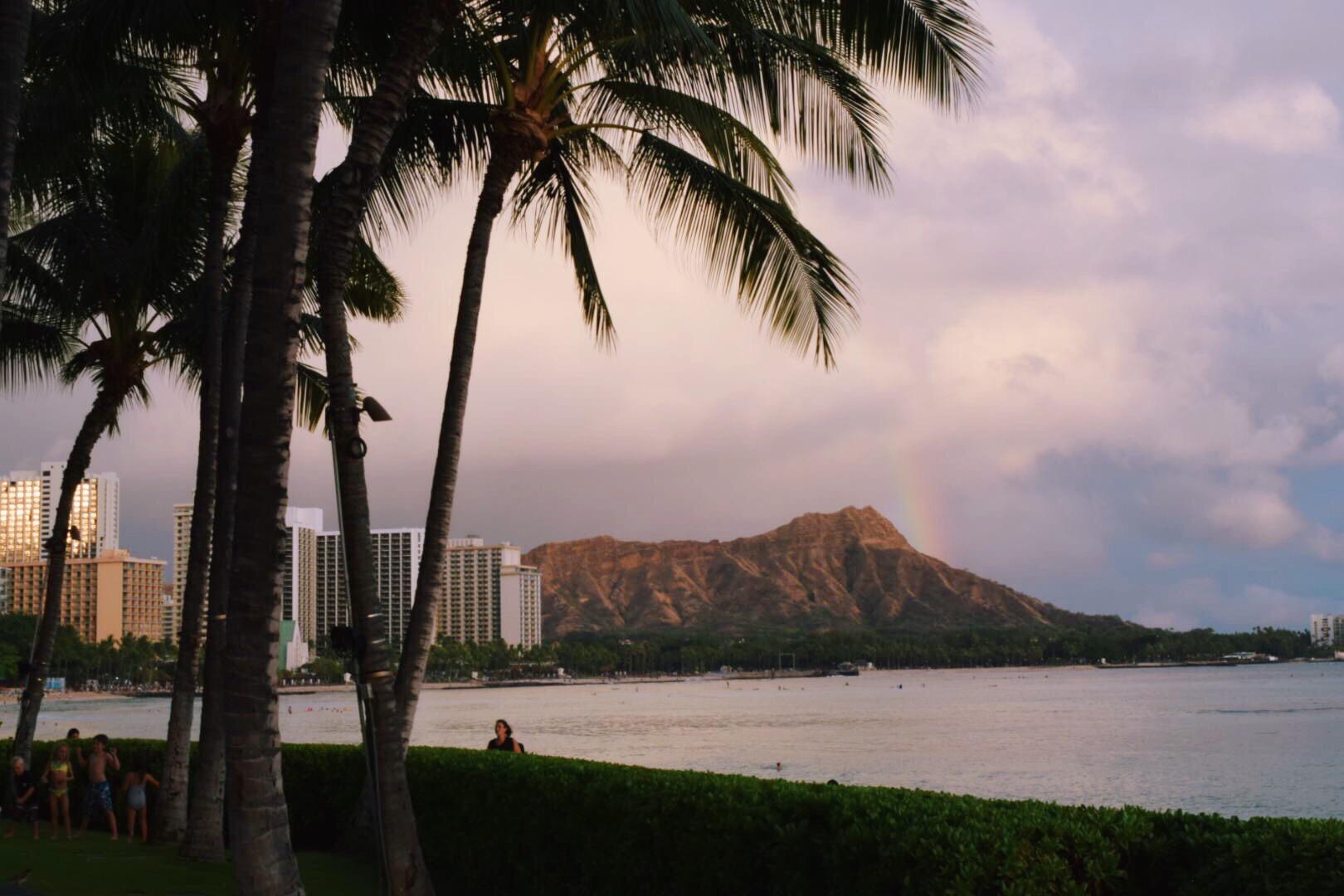 Walking on Waikiki